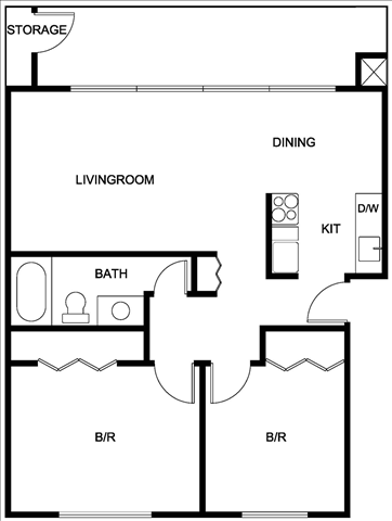 Floor Plans Hill Crest Apartments